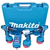Makita 6281DP3-TP 14.4 V Cordless Drill Driver and Combi Drill with 3-Batteries - (Triple-Pack)
