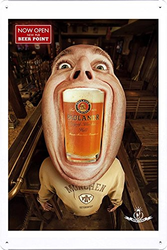 tin-sign-metal-poster-plate-8x12-of-beer-point-paulaner-2-by-food-beverage-decor-sign