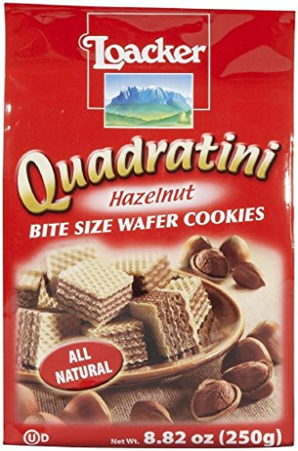 LOACKER WAFER QUDRTNI HZLNT 250G, 8.82 OZ (Italian Wafer Cookies compare prices)
