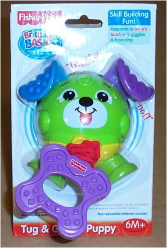 BRILLIANT BASICS TUG & GIGGLE PUPPY (Fisher Price Pull Along Dog compare prices)
