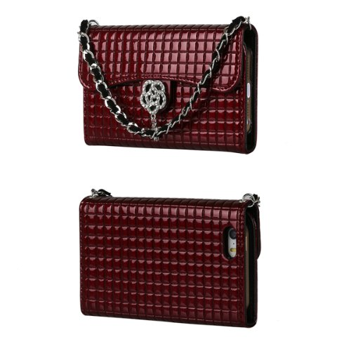 Toru Ihand Handbag Clutch Wallet Case With Bling For Iphone 5 / 5S [Retail Package] - Burgundy