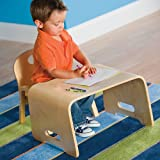 Kids Steam Bent Wood Desk and Chair