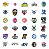 30 NBA Stickers Basketball Team Logo Complete Set, All 30 Teams. Die Cut. Lakers Bulls Heat Warriors Celtics Cavaliers Thunder Spurs Knicks Mavericks Clippers Rockets Pacers Nets Magic Timberwolves