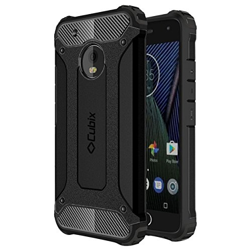Moto G5 Case Cubix Rugged Armor Case For Motorola Moto G5 (Black)
