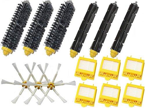 Shp-Zone Hepa Filters & Bristle Brush & Flexible Beater Brush & 6-Armed Side Brush Pack Mega Kit For Irobot Roomba 700 Series 760 770 780 790 Vacuum Cleaning Robots front-559761