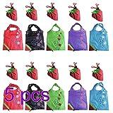 NO:1 5 Stück Faltbare Schöne Erdbeere Wiederverwendbare Einkaufstaschen Wiederverwertung Taschen