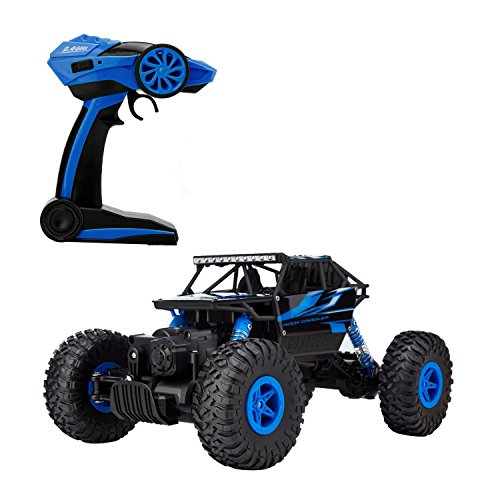 Metakoo Off Road Electric Fast 4WD High Speed 1:18 Scale 100M Remote Control 2.4GHz RC Rock Crawler Hobby Car-Blue (Gas Rc Cars Hobby compare prices)