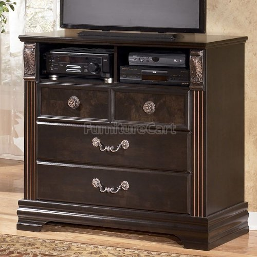 buy low price contemporary dark brown media chest tv stand b563 39. Black Bedroom Furniture Sets. Home Design Ideas