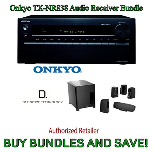 Onkyo Tx-Nr838 7.2-Channel Network A/V Receiver Plus Definitive Technology Procinema 400Bk 5.1 Speaker System (Black, 6 Pieces)