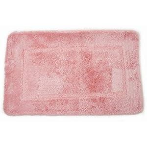 Bathroom Carpets on Amazon Com   Square Design Pink Bathroom Mat   Bath Rug  20 X 32