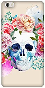 The Racoon Grip Pale Watercolor Skull hard plastic printed back case / cover for Xiaomi Mi Note