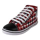 Earton Men's Multicolor Canvas Sneakers (10 UK)