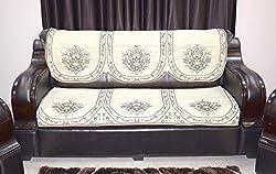 Balaji 10 PCS Brown Sofa Cover