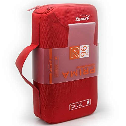 new 96 Disc CD VCD DVD Blu-Ray Storage Bag Wallet Holder Case Box – Red
