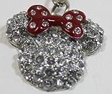 Disney Minnie Mouse Ears Keychain w/ Rhinestones- Disney Parks Exclusive & Limited Avilability