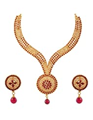 Jewel Mart Antique Necklace Red For Women JMNS002