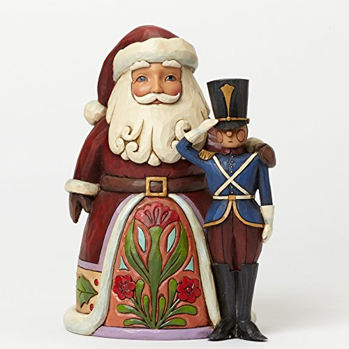 Jim Shore for Enesco Heartwood Creek Santa with Toy Soldier Figurine, 6.25-Inch (Christmas Toy Soldier)