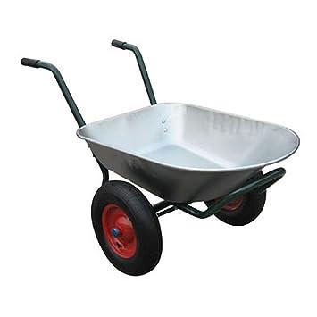 S brouette chariot de jardin 2 2 roues contenance for Chariot de jardin 2 roues