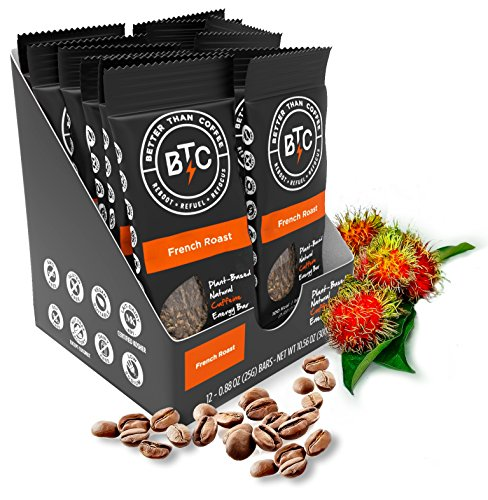 Better Than Coffee Energy Bars, Gluten Free (French Roast, 12-count) (Now Energy Bars compare prices)