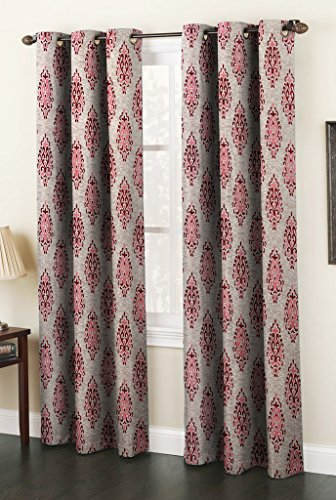 Set of 2 Grommet Door Curtains for Living Room, 48 by 84-Inch, Maroon (Maroon Kitchen Curtains compare prices)