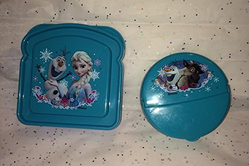 Disney's Frozen Meal Time Lunch Set! 2 Pc. All Enclusive Set Includes: Resuable Meal Storage Containers & Featuring Elsa, Sven & Olaf! Comes in a Holiday Gift Box and Festive Tissue Paper. - 1