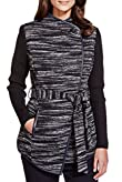 Per Una Faux Leather Trim Belted Jacket with Wool [T62-1012K-S]
