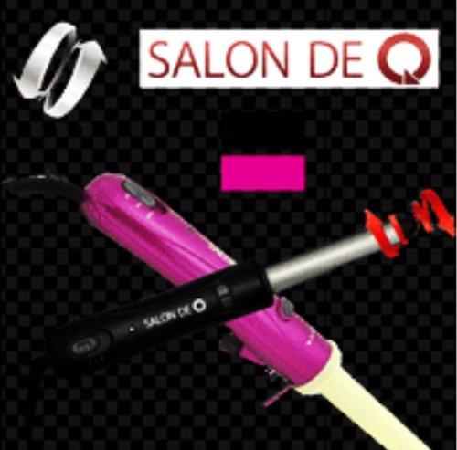 電動回転式 ヘアアイロン SALON DE Q サロンドキュー ピンク