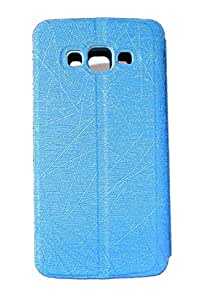 Coversncases Blue Premium Luxury Window Leather Flip Cover Case With Stand for Samsung Galaxy Grand Max