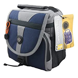 $8 ICon NTV40-GRY Small Imaging Camcorder Gadget Bag (Grey/Blue)