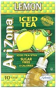 AriZona Lemon Iced Tea Iced Tea Stix Sugar Free, 0.7-Ounce Boxes (Pack of 6) from AriZona