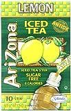 AriZona Lemon Iced Tea Iced Tea Stix Sugar Free, 0.7-Ounce Boxes (Pack of 6)
