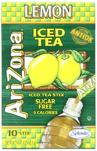 AriZona Lemon Iced Tea Iced Tea Stix Sugar Free, 0.7-Ounce Boxes (Pack of 6) (Arizona Ice Tea Stix compare prices)