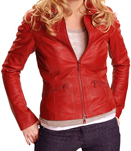 [Emma Swan Red Leather Jacket - Once Upon a Time Jacket ►Best Seller◄ (X-Small)] (Emma Swan Costume)