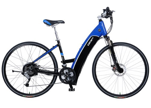IZIP E3 ULTRA 36 Volt Lithium Ion Electric Bicycle - Black/Blue - 2012 Model (L/XL)