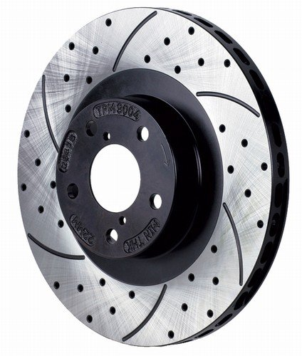 Racing Brake Drilled and Slotted Rotors for Nissan Sentra (SE, SE-R, SPEC V) Front Pair 00-04