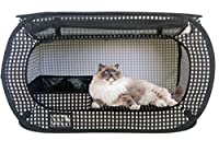 Portable Pet Cage - Best Exercise Playpen Kennel for Cats Dogs Rabbits Hampsters and Guinea Pigs - Travel Pop Up Tent - Litter Box Included