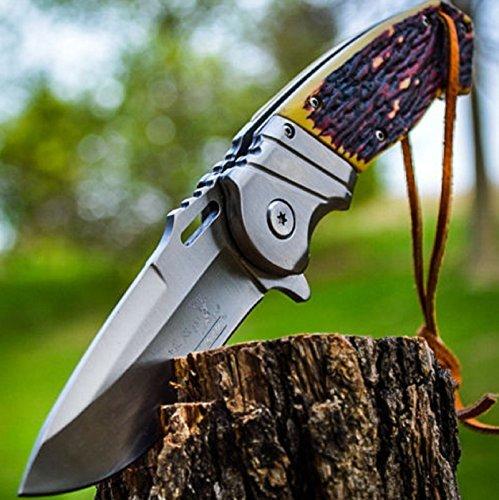 85-ELK-RIDGE-Bone-Gentleman-SPRING-ASSISTED-OPEN-Hunting-Folding-POCKET-KNIFE