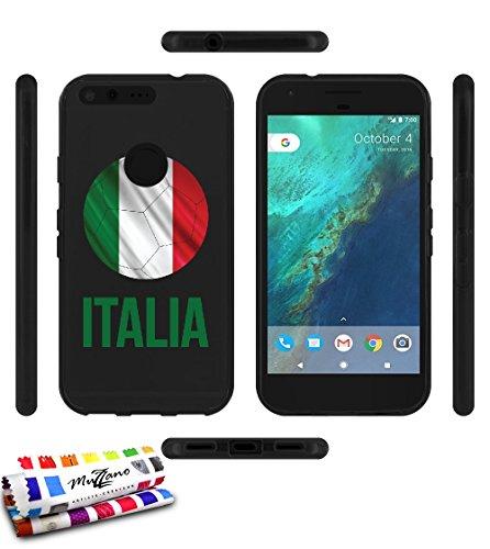 carcasa-flexible-ultra-slim-google-pixel-xl-de-exclusivo-motivo-balon-de-futbol-italia-negra-de-muzz