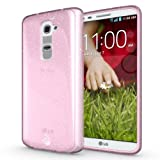 Diztronic Pink GlitterFlex TPU Case For LG G2 - ( Only - Model LG-D800) - Retail Packaging
