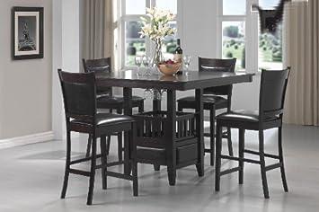 Coaster 100958 100959 Jaden 5 Pc Counter Height Table Set Cappuccino
