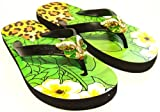 MISS TRISH LADIES LEOPARD FLIP FLOPS