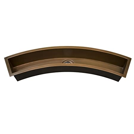 Barclay TSCSB3050-SAC Winona Curved Copper Trough Sink