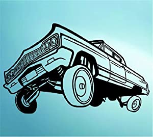 Amazon.com - Lowrider Car with Hydraulics Decal Sticker Wall Mural Art