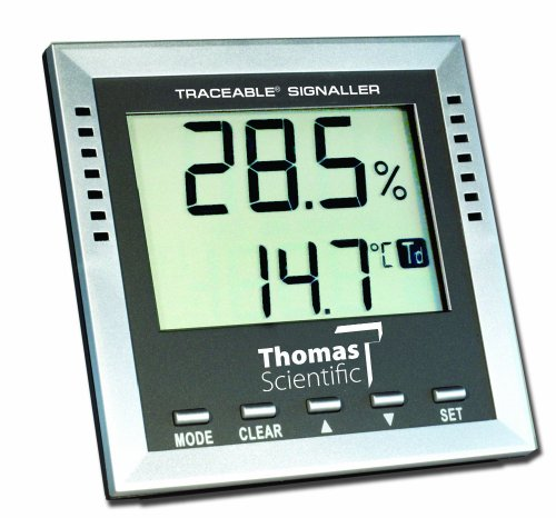 Thomas Traceable Dew-Point/Wet-Bulb/Humidity/Temperature Alarm, -40 to 158 degree F, -40 to 70 degree C, 1 to 99% RH - 1