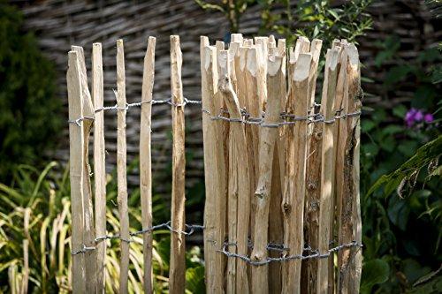 staketenzaun 300 x 90 cm gartenzaun naturzaun aus unbehandeltem haselnussholz. Black Bedroom Furniture Sets. Home Design Ideas