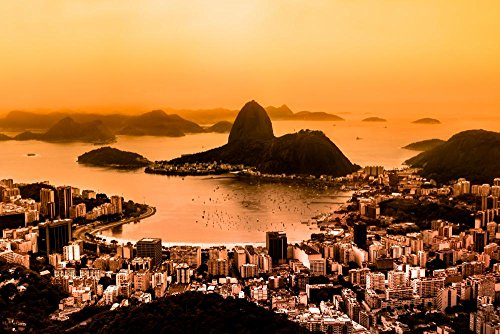 Wallmonkeys Rio De Janeiro Peel and Stick Wall Decals WM257494 (60 in W x 40 in H) (Sugarloaf Decal compare prices)