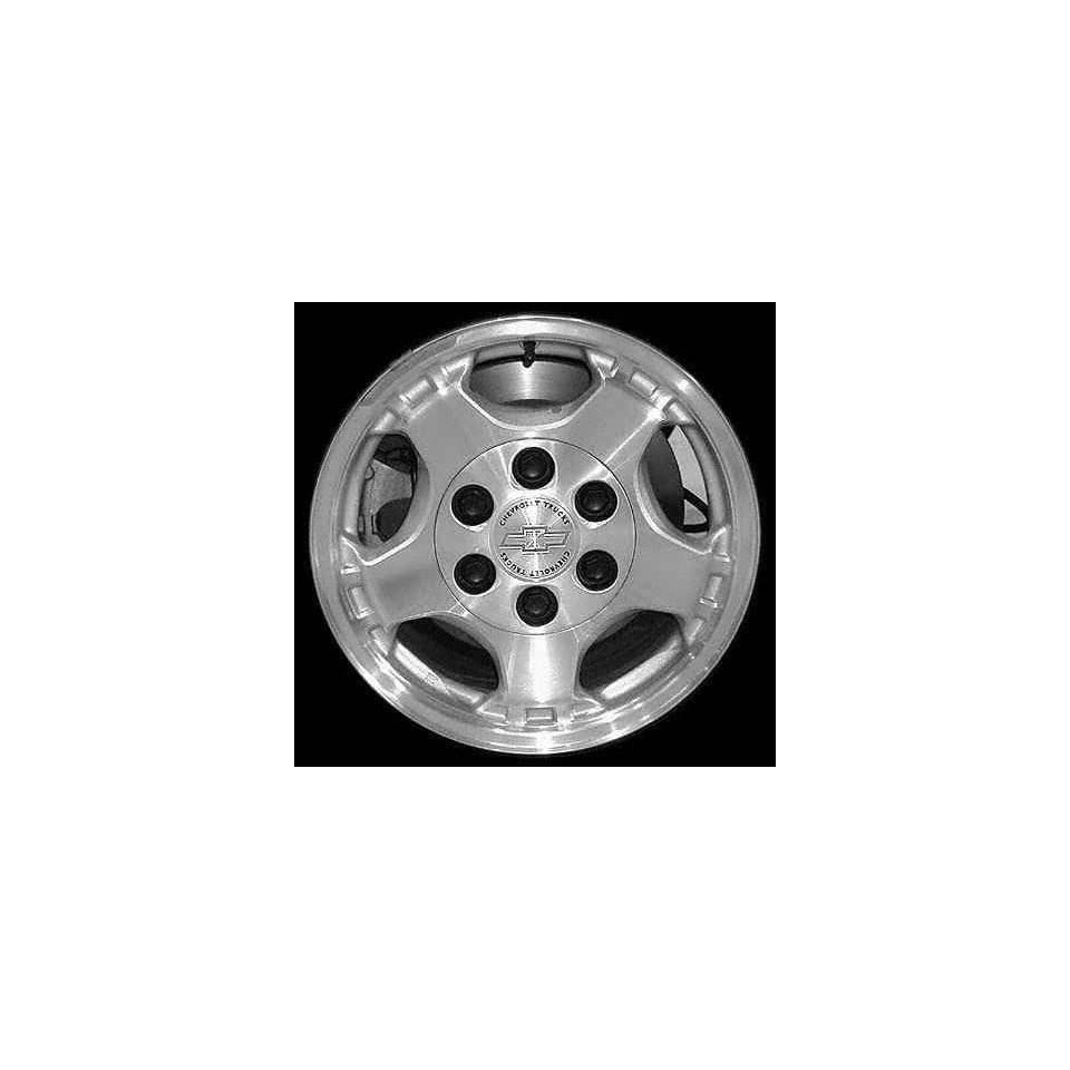 99 02 CHEVY CHEVROLET SILVERADO PICKUP ALLOY WHEEL RIM 16 INCH TRUCK, Diameter 16, Width 7 (5 SPOKE,), MACHINED FACE. LIGHT SILVER VENTS, 1 Piece Only, Remanufactured (1999 99 2000 00 2001 01 2002 02)