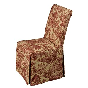 Dining Chair Slip Cover Toile Chair Pads Amp Cushions