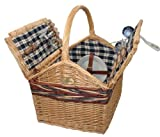Farmhouse Picnic Basket for 4