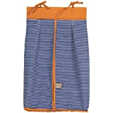 Trend Lab Stripe And Dot Diaper Stacker, Navy Blue/Orange